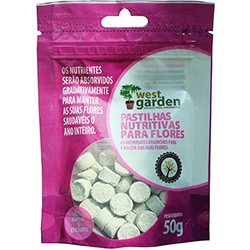 7896488812128 - FERTILIZANTE SUPERFLOWER WEST GARDEN PASTILHA ROSA