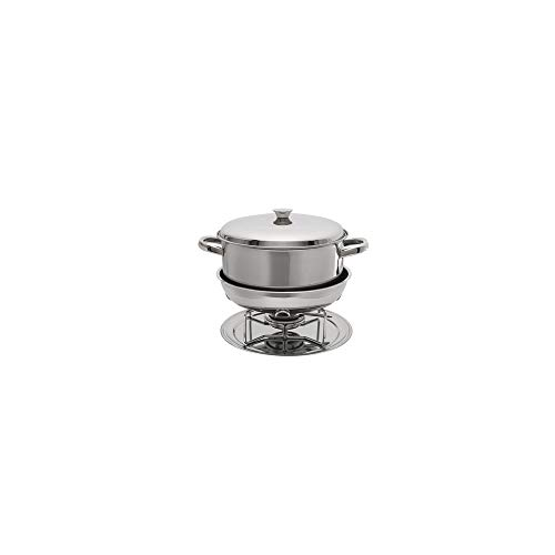 7896502808601 - BRINOX STAINLESS STEEL CASSEROLE WITH CHAFER DOUBLE BOILER, LARGE, SILVER