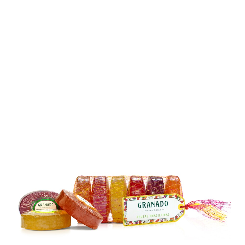 7896512927217 - LINHA GLICERINA GRANADO - SABONETES EM BARRA MIX DE FRUTAS BRASILEIRAS (6 X 90 GR) - (GRANADO GLYCERIN COLLECTION - BRAZILIAN FRUITS ASSORTED BAR SOAP (6 X NET 3.1 OZ))