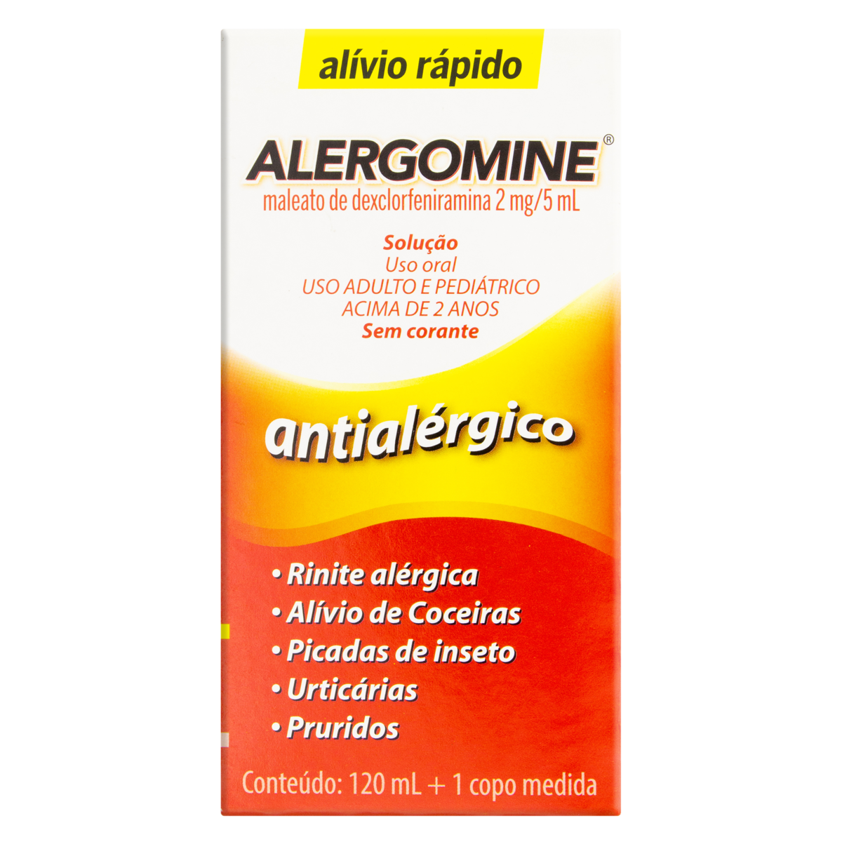 7896523209425 - ALERGOMINE 2MG/5ML CIMED CAIXA 120ML + COPO MEDIDA