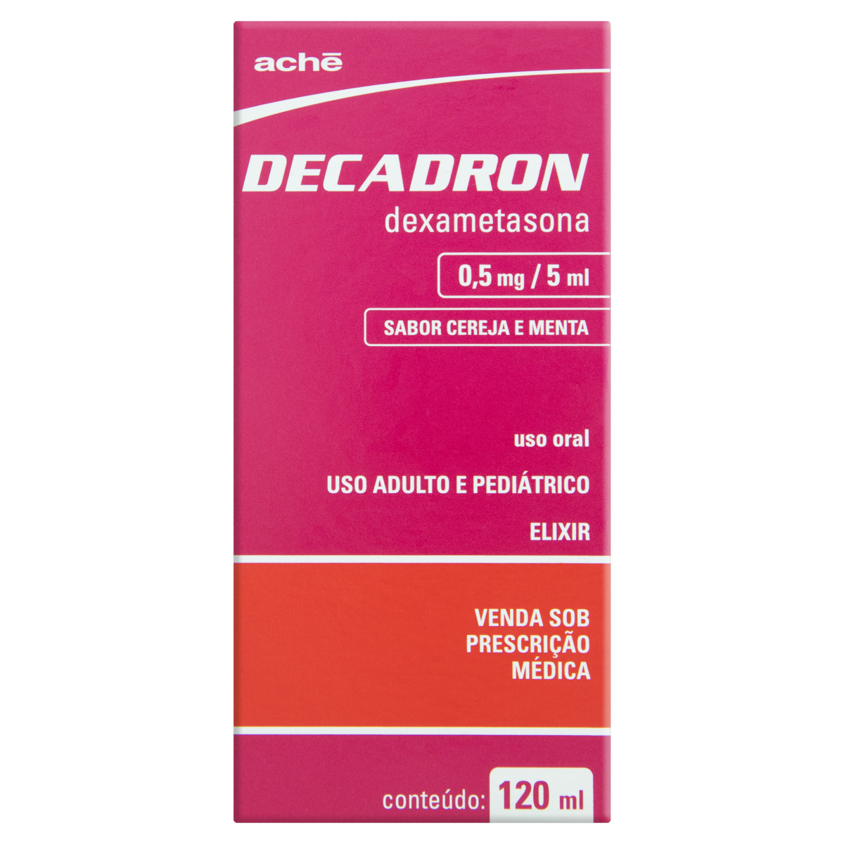 7896658003554 - DECADRON 0,5MG/5ML CEREJA E MENTA ACHÉ CAIXA 120ML