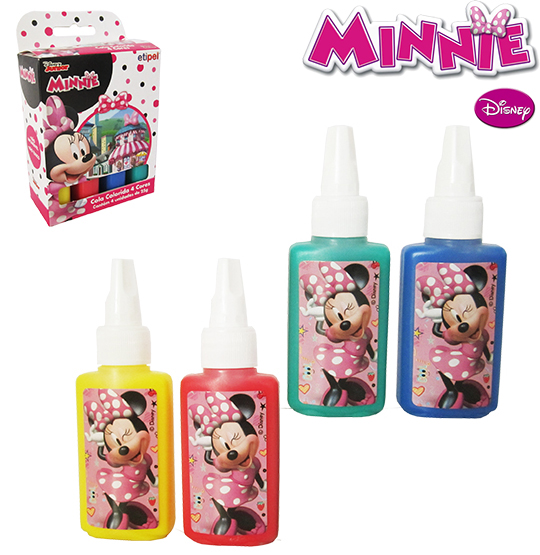 7897186093819 - COLA COLORIDA 4 CORES 1UN MINNIE