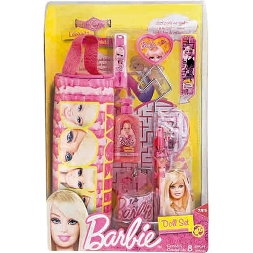 7897476653716 - KIT ESCOLAR TRIS DOLL SET BARBIE 8 PEÇAS