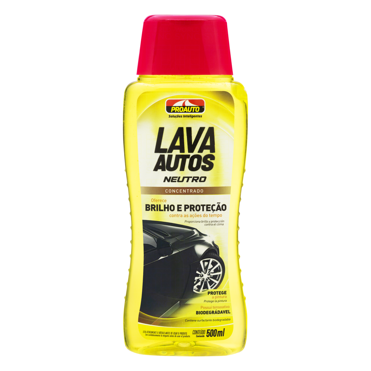 7897520100135 - LAVA AUTOS CONCENTRADO NEUTRO PROAUTO CLASSIC FRASCO 500ML