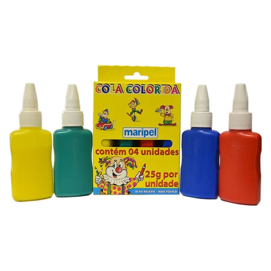 7897731140043 - PAP.COLA COLORIDA MARIPEL C/4 CORES