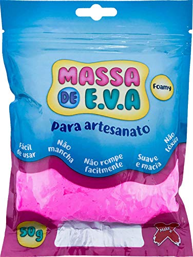 7897771300810 - MASSA DE EVA ROSA 50G MAKE+