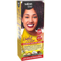 7898009440353 - TINTURA LIGHT COLOR SALON LINE 3.66 BORDEAUX PROFUNDO