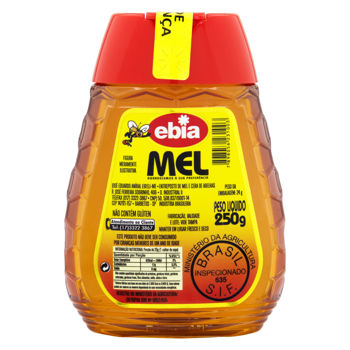 7898056231003 - MEL EBIA SQUEEZE 250G