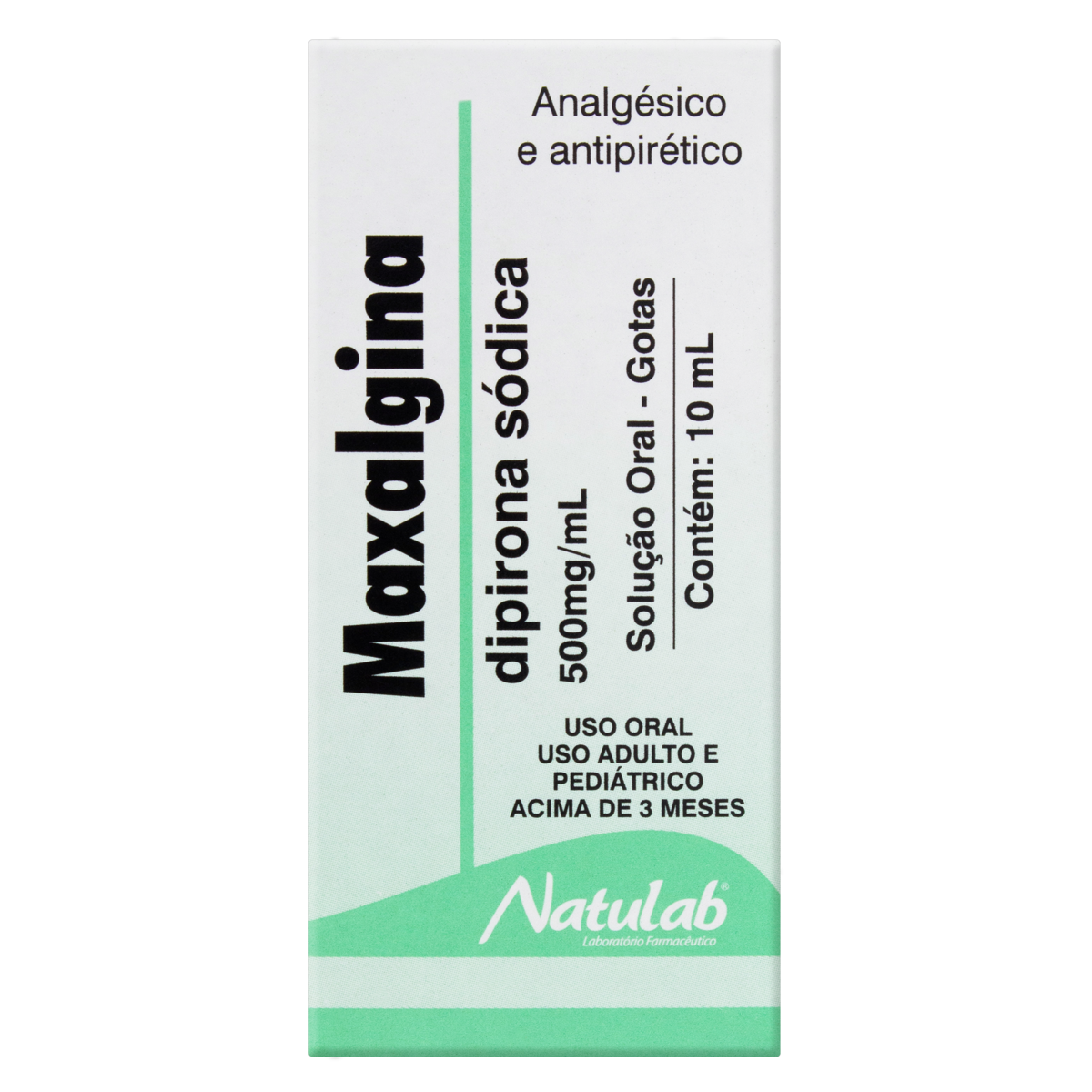 7898133130403 - MAXALGINA 500MG/ML NATULAB CAIXA 10ML GOTAS