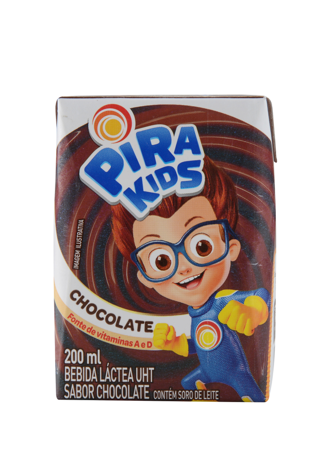 7898215151807 - BEBIDA LÁCTEA UHT PIRAKIDS SABOR CHOCOLATE 200ML