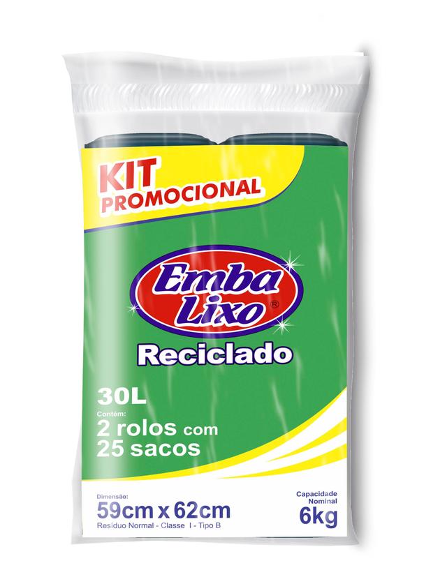7898226514271 - SACO DE LIXO EMBALIXO KIT PROMOCIONAL RECICLADO 30 LITROS 500G