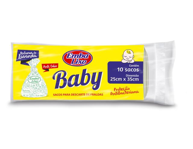 7898226516213 - SACO DE LIXO EMBALIXO BABY 10 CONTÉM SACOS