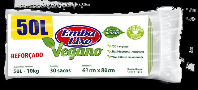 7898226517500 - SACO DE LIXO EMBALIXO VEGANO REFORÇADO 50 LITROS