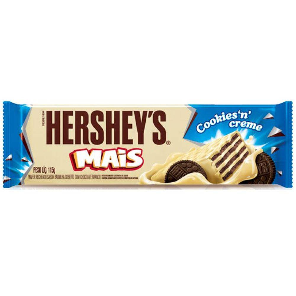 7898292885541 - WAFER COOKIES 'N' CREME HERSHEY'S MAIS PACOTE 115G