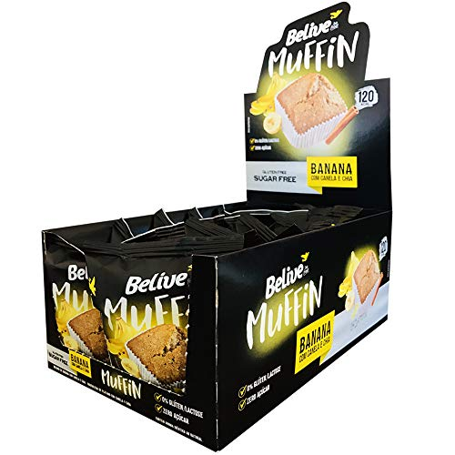 7898380411058 - MUFFIN BEL BANANA/CAN/CHIA S/G S/L10X40G BELIVE