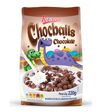 7898416521478 - CEREAL CHOCOLATE CHOCBALLS 220G KICEREAL