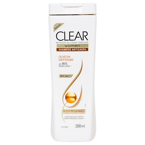 7898422746193 - SHAMPOO ANTICASPA CLEAR WOMEN QUEDA DEFENSE 200ML