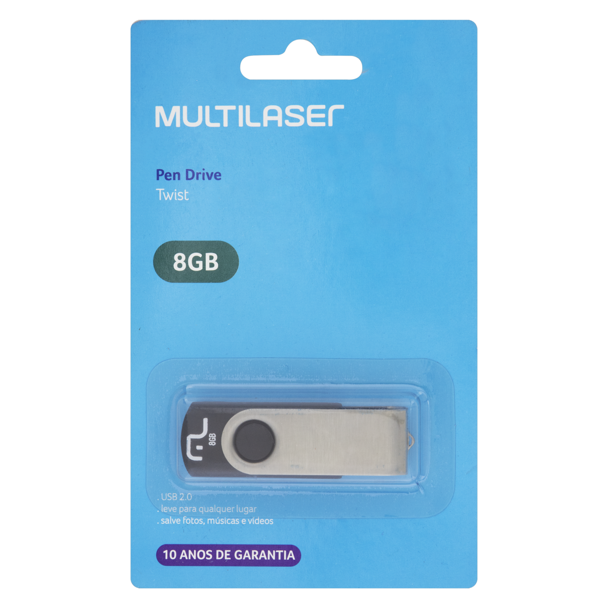 7898476326129 - PEN DRIVE MULTILASER TWIST 2 PD58700 8GB