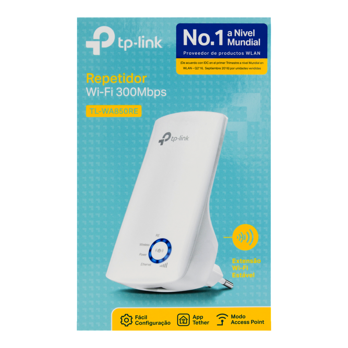 7898544550180 - REPETIDOR WI-FI 300MBPS TL-WA850RE TP-LINK