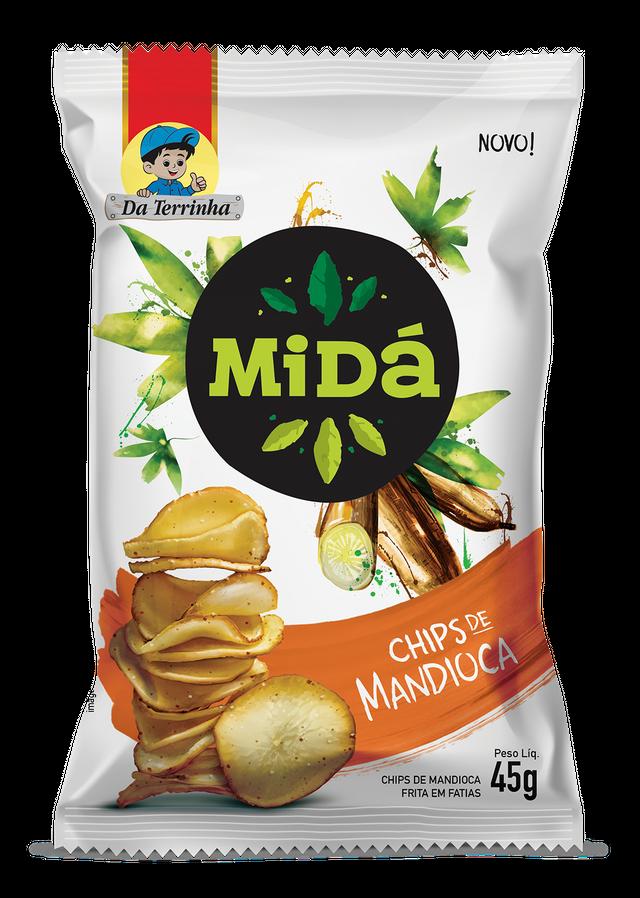 7898557010220 - CHIPS DE MANDIOCA MIDÁ 45G