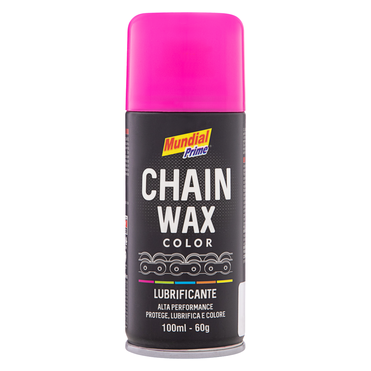 7898567703860 - LUBRIFICANTE SPRAY PINK MUNDIAL PRIME CHAIN WAX COLOR FRASCO 100ML