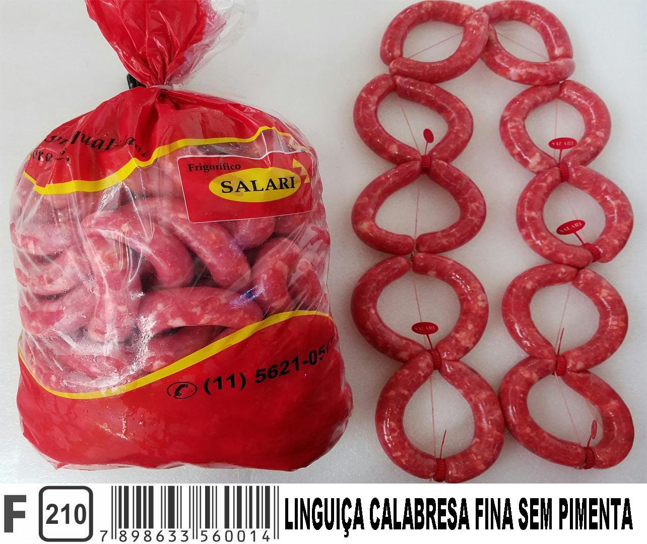 7898633560014 - LINGUIÇA CALABRESA FINA SEM PIMENTA