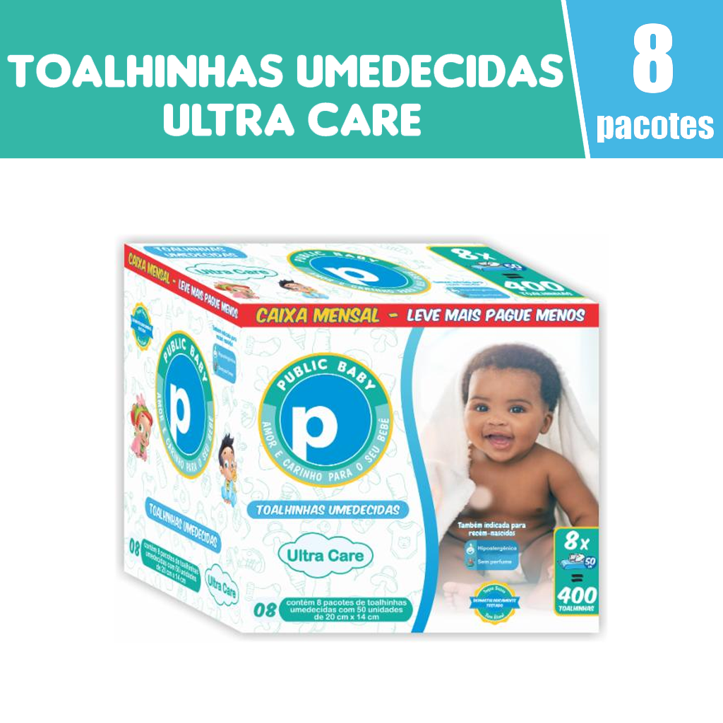 7898653351012 - TOALHA UMED PUBLIC BABY ULTRA CARE C/400 CX MENSAL