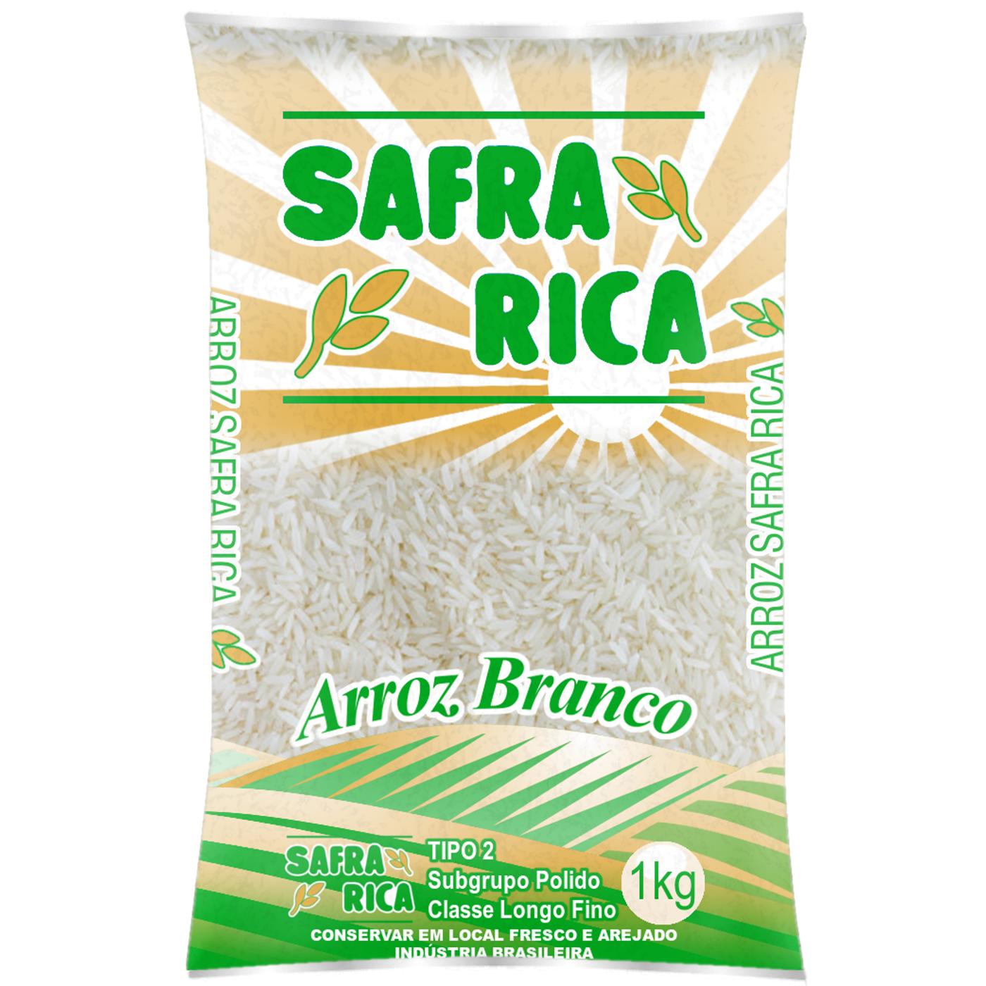 7898678530096 - ARROZ SAFRA RICA BRANCO TIPO 2 1KG