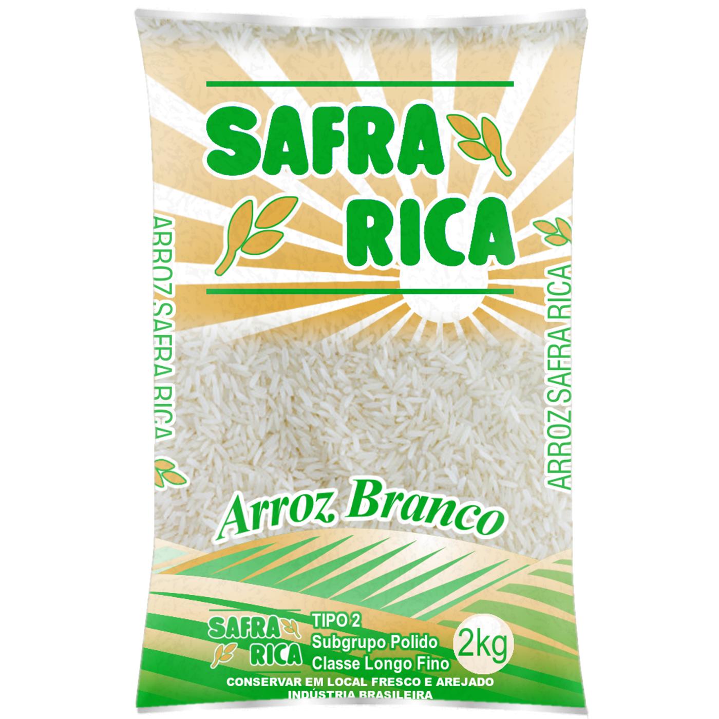 7898678530102 - ARROZ SAFRA RICA BRANCO TIPO 2 2KG
