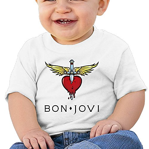 7898887691281 - ATOGGG INFANTS &TODDLERS BABY'S BON JOVI CLASSIC LOGO T SHIRTS FOR 6-24 MONTHS
