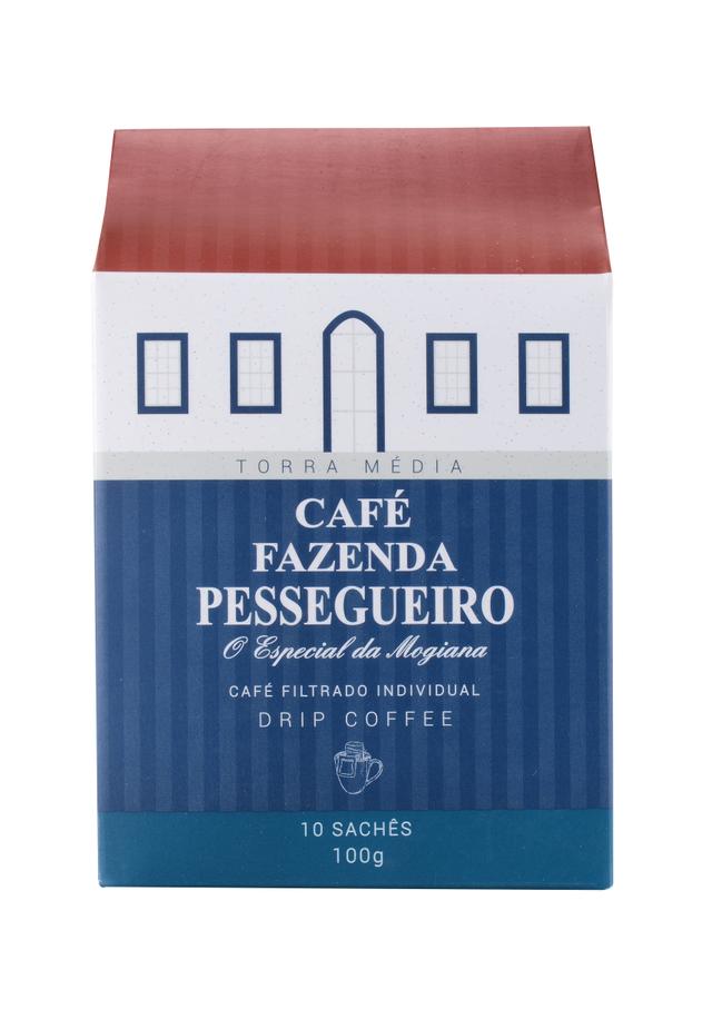 7898901350132 - CAFÉ FAZ PESSEGUEIRO FILTRADO INDIVIDUAL DRIPCOFFE 10 SACHÊS 100G