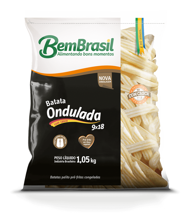 7898921567541 - BATATA BEM BRASIL CORTE ESPCIAL ONDULADA 1,05KG