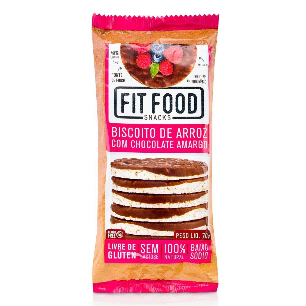 7898957617210 - BISC.ARROZ FIT FOOD 70G CHOCOLATE AMARGO