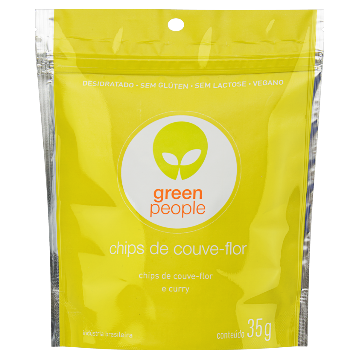 7898958985912 - CHIPS COUVE-FLOR E CURRY GREENPEOPLE POUCH 35G