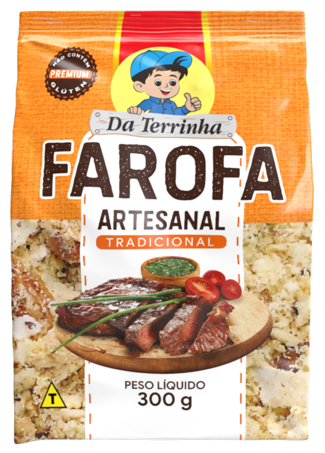 7898960982091 - FAROFA ARTESANAL DA TERRINHA TRADICIONAL 300G