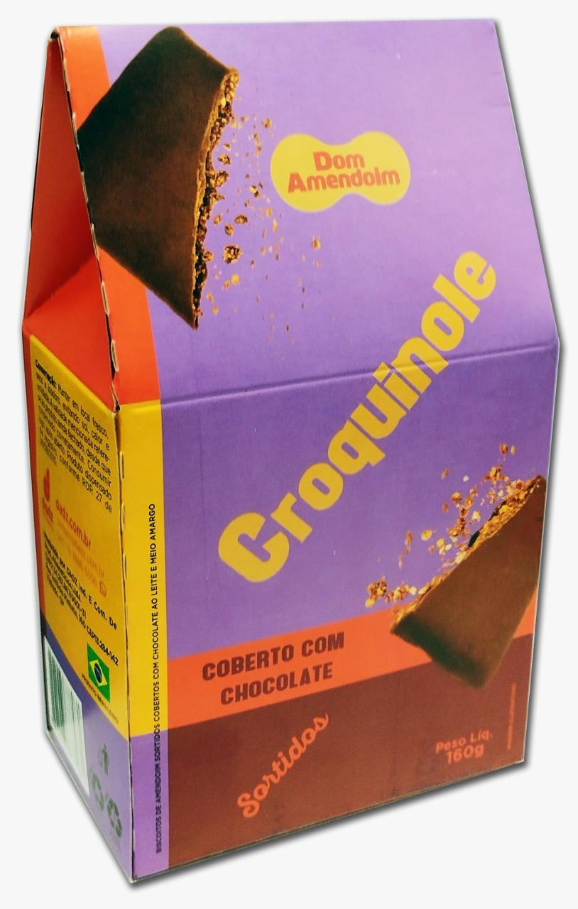 7898965777081 - CROQUINOLE DE AMENDOIM SORTIDO COBERTO DE CHOCOLATE