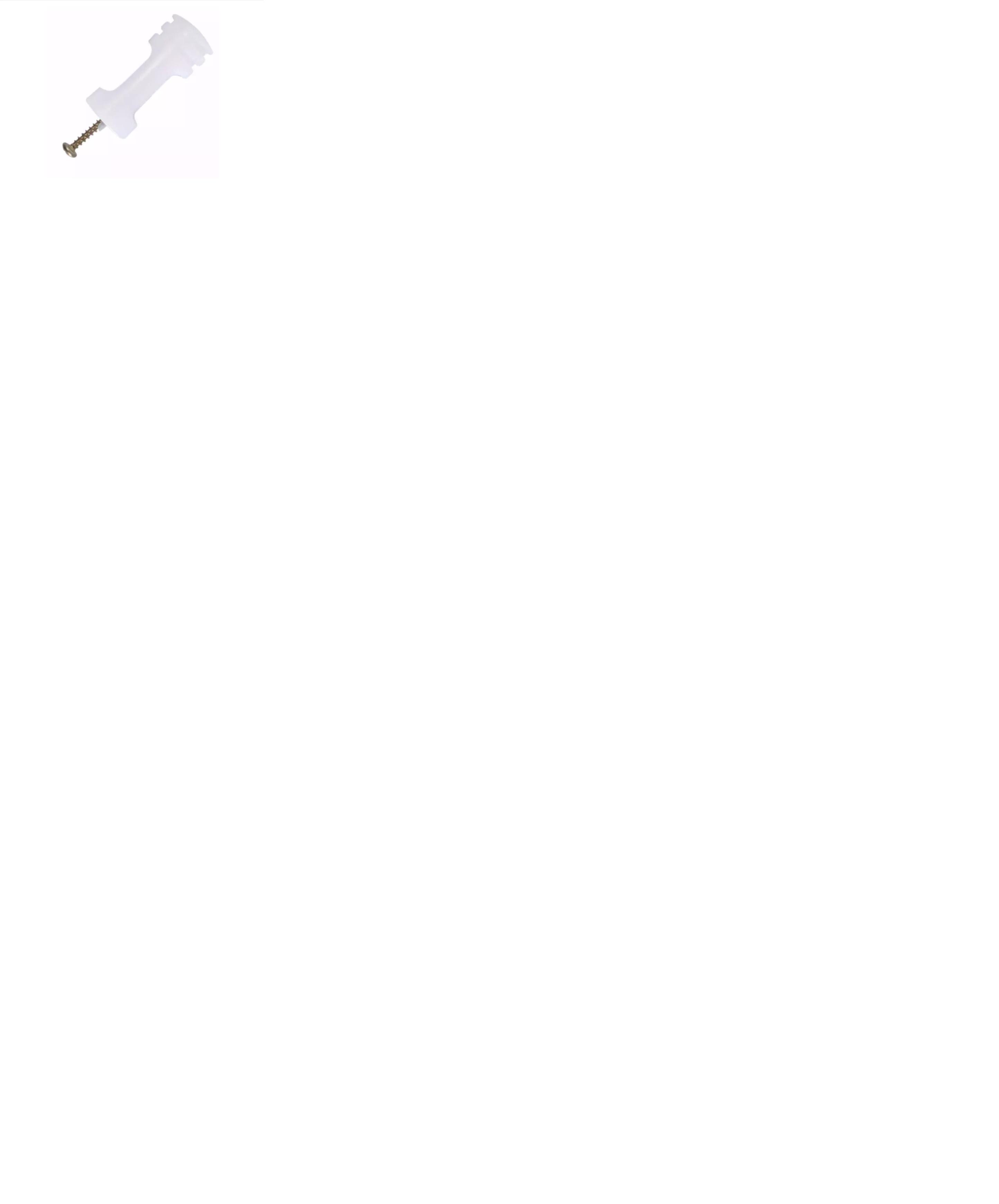 7898989000318 - ISOLADOR COMPATEC BRANCO C/ PORCA PARAFUSO