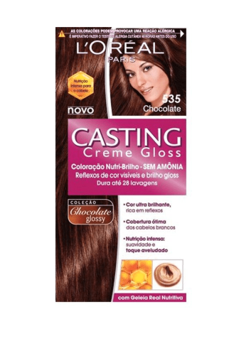 7899026495029 - COLORACAO CASTING CREME GLOSS NUTRI BRILHO SEM AMONIA CHOCOLATE 353 LOREAL PARIS