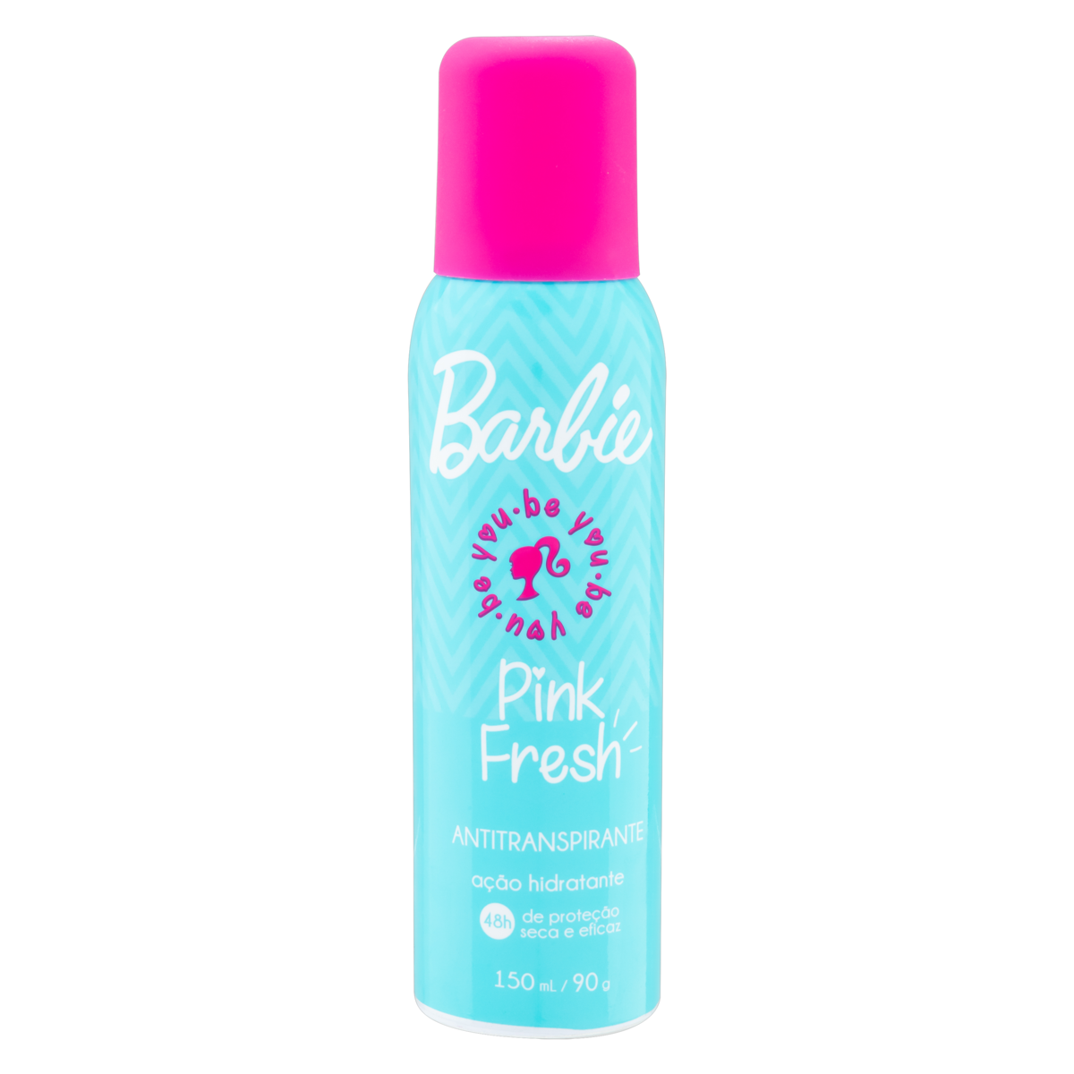 7899304809081 - ANTITRANSPIRANTE AEROSSOL PINK FRESH BARBIE NUTRIEX MARCAS TEENS 150ML