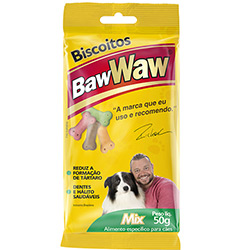 7899306004323 - BISCOITO P/CAES BAW WAW MIX 60GRS