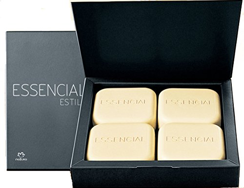 7899563287200 - LINHA ESSENCIAL NATURA - SABONETES EM BARRA PURO VEGETAL CREMOSOS ESTILO (4 X 90 GR) - (NATURA ESSENTIAL COLLECTION - STYLE PURE CREAMY VEGETABLE BAR SOAPS (4 X NET 3.17 OZ))