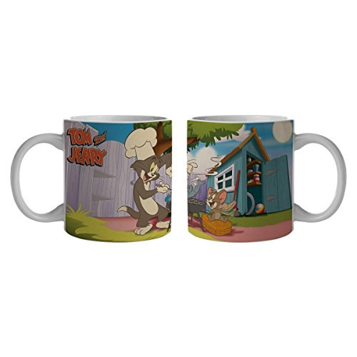 7899690831994 - CANECA PORCELANA URBAN HB TOM AND JERRY BARBECUE