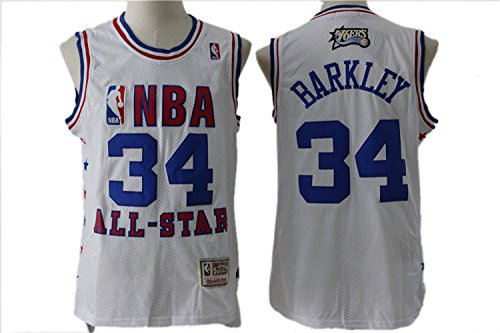 7903019662609 - 76ERS 34 CHARLES BARKLEY WHITE 2003 ALL-STAR HARDWOOD CLASSICS JERSEY SIZE-L