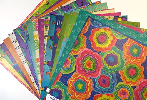 0791810954101 - OLE FIESTA PAPER COLLECTION SABOR PAPEL 12 INCH X 12 INCH HISPANIC HERITAGE 18 SHEETS