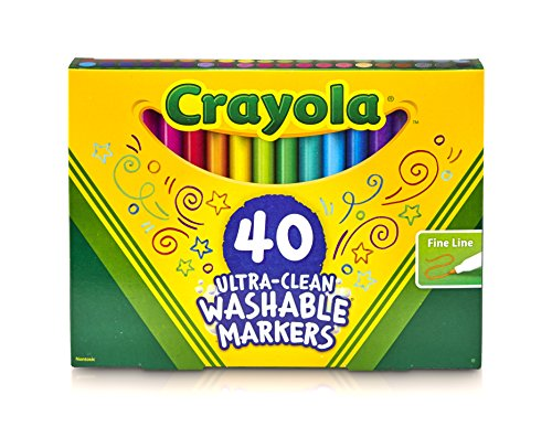0792165953771 - CRAYOLA FINE LINE ULTRA-CLEAN WASHABLE MARKERS (40 COUNT)