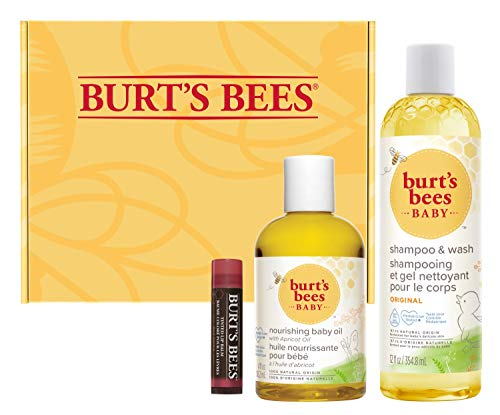 0792850648791 - BURTS BEES BURTS BEES BABY AND MOM GIFT SET WITH NOURISHING BABY OIL, ORIGINAL BABY SHAMPOO AND WASH, AND 100% NATURAL ORIGIN TINTED LIP BALM, RED DAHLIA, 1 COUNT