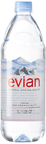 0079298100006 - EVIAN NATURAL SPRING WATER 1 LITER, 12 COUNT
