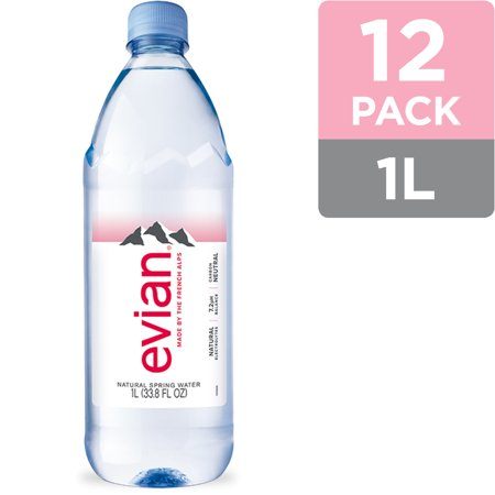 0079298200003 - EVIAN NATURAL SPRING WATER, 1 L, 12 COUNT (2 PACK OF 6 COUNT)