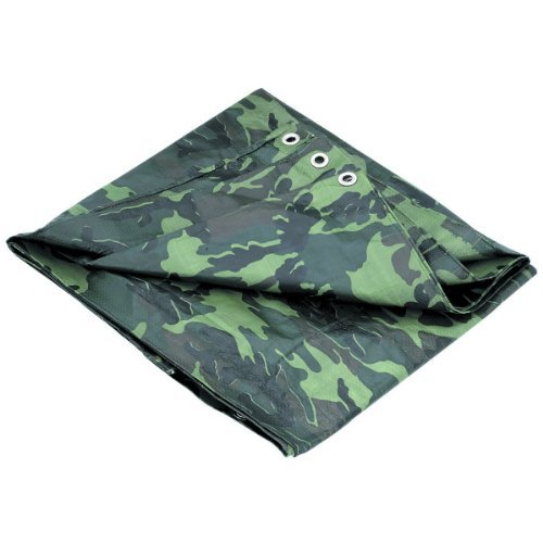 0793770100031 - P-LINE MULTI-PURPOSE CAMOUFLAGE POLY TARP COVER TENT SHELTER CAMPING HIKING TARPAULIN
