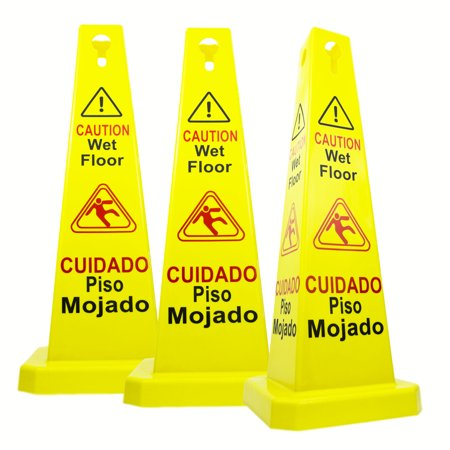 "0795787471630 - RELIABLE1ST 3 PACKS 26""CAUTION WET FLOOR CONES 